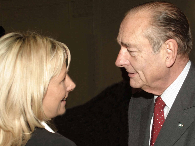 avec le Président de la République française en 2004