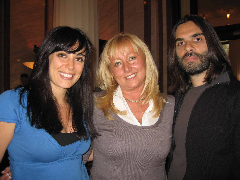 avec Nadine Labaki et Khaled Mouzanar, réalisateurs du film « Caramel »