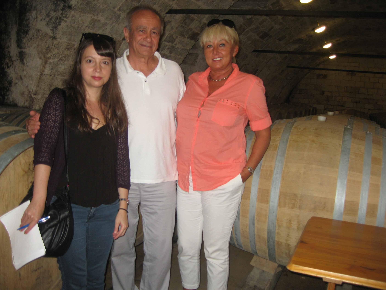 visite à Tokaj des caves de fameux viticulteur « SZEPSY » avec un journaliste français