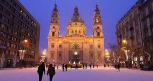 la Basilique en hiver