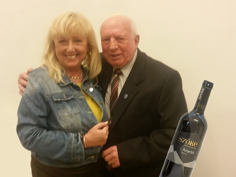 avec Mátyás SZŐKE premier prix des viticulteurs l'année 2017