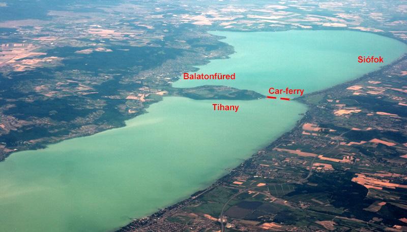 Plan du lac Balaton