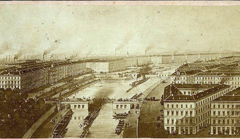 1865-maquette de canal avec ses écluses