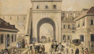 porte entrée Est du mur médiéval