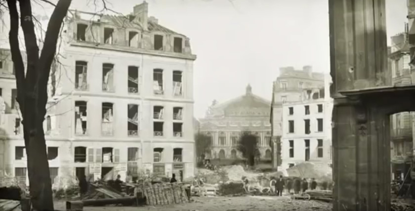 Avenue de l'Opéra en construction
