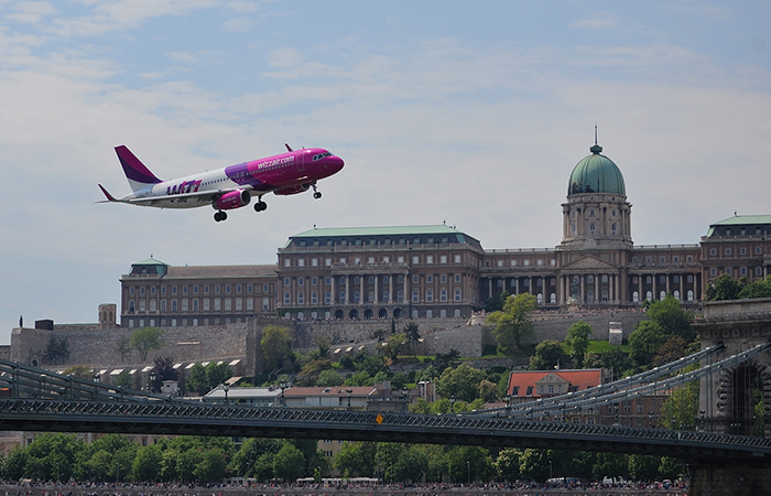 démonstration aérienne à budapest