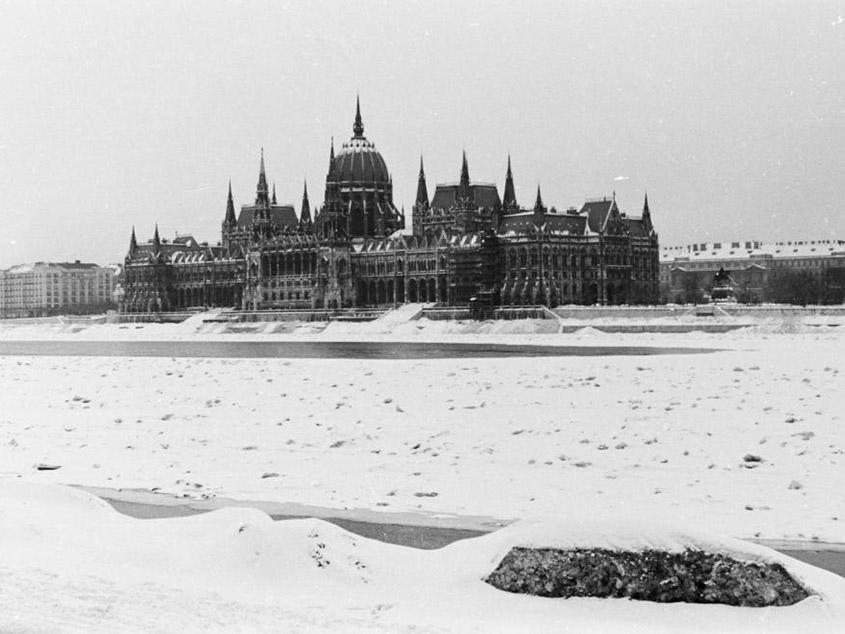 le Danube gelé