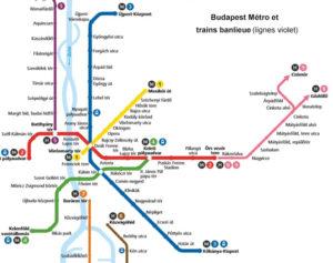 Plan de métro de Budapest