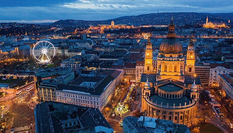 Budapest vue aérienne