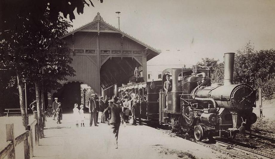 station de crémaillère en 1935