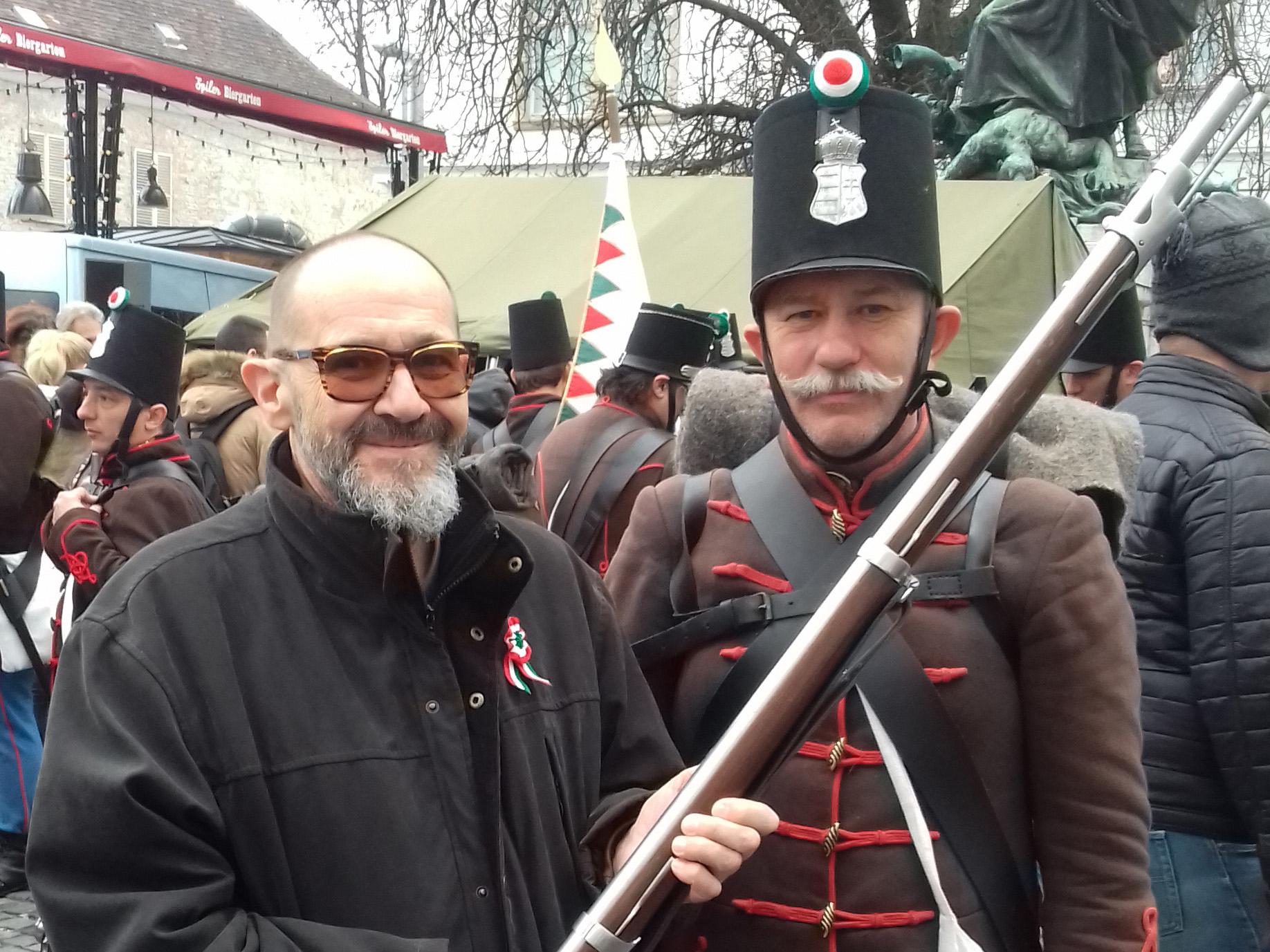à la commémoration de la guerre d'indépendance de la Hongrie en 1848