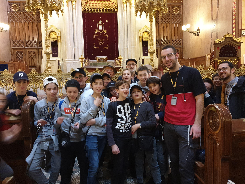 avec l'école de Consistoire Israélite de Strasbourg
