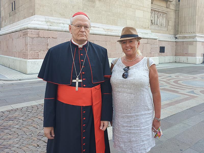 avec Mgr. Péter ERDŐ cardinal de Hongrie