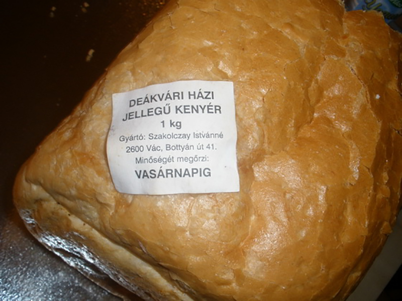 Etiquetage du pain